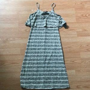 Lulu's Striped Bodycon Midi Dress